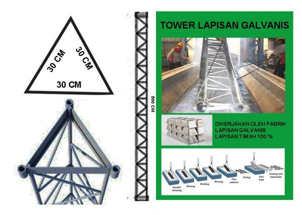 Tower Trianggle 30 Galvanis